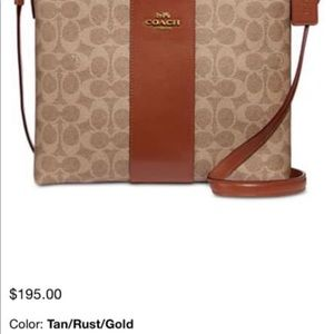 Coach messenger cross body  Brown
